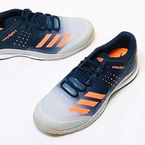 Adidas crazyflight X gray/blue/orange men's SZ:16
